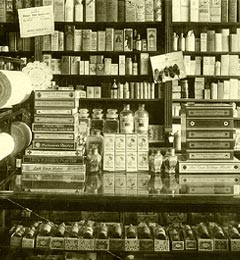 19th Century Pharmacy Interior