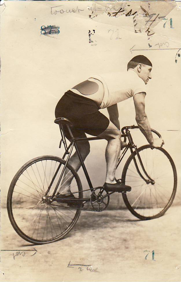 Bicyclist Wearing Kidney Plaster