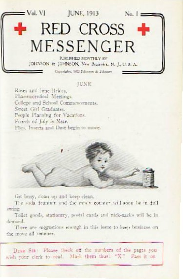 RED CROSS MESSENGER from 1912
