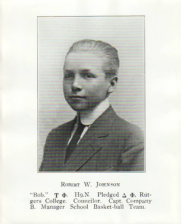 Undated Rutgers Prep Photo of Robert Wood Johnson