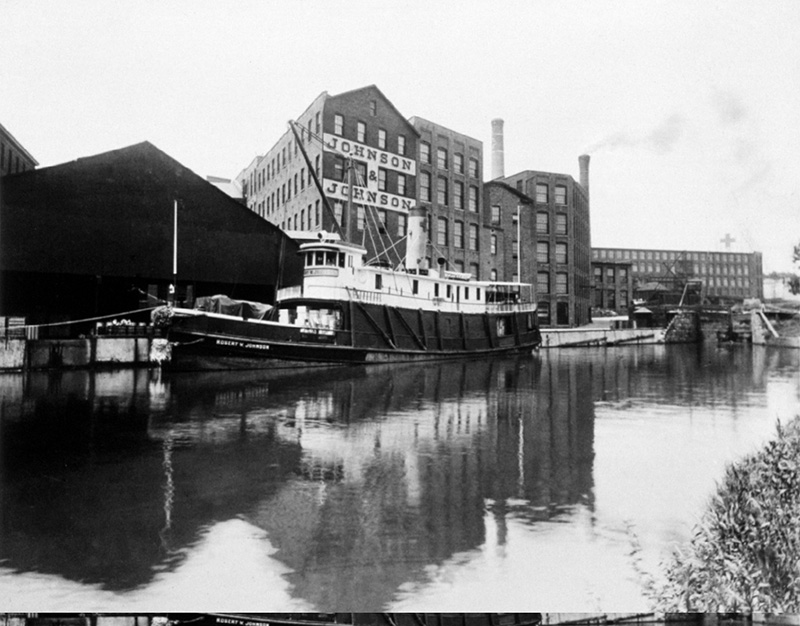 Johnson & Johnson and Steamship from River