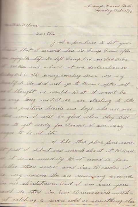 Letters From the Front | Kilmer House