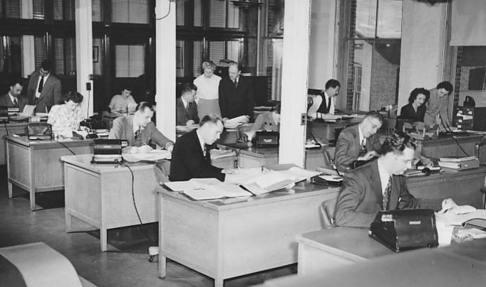 Office Interior, 1940s