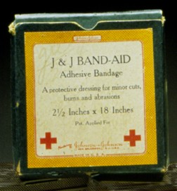 BAND-AID Brand Adhesive Bandages Earliest Package