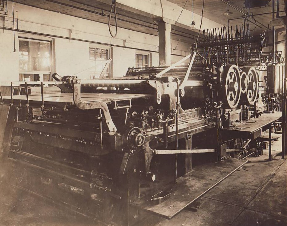 Printing Press In The Department 1911
