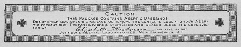 Aseptic Dressing Seal 1899