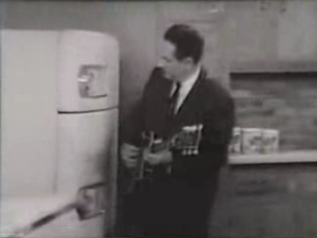 Les Paul and his refrigerator
