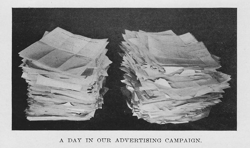 Letters from Consumers from Shaving Cream Soap Ad Campaign