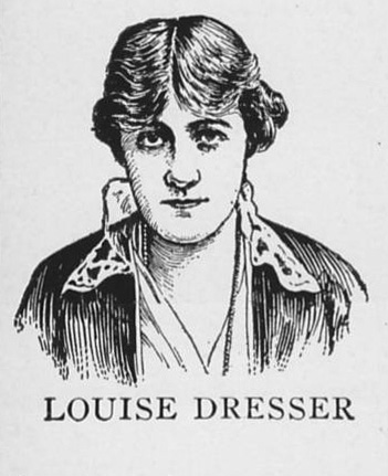 Illustration of Louise Dresser from THE RED CROSS MESSENGER