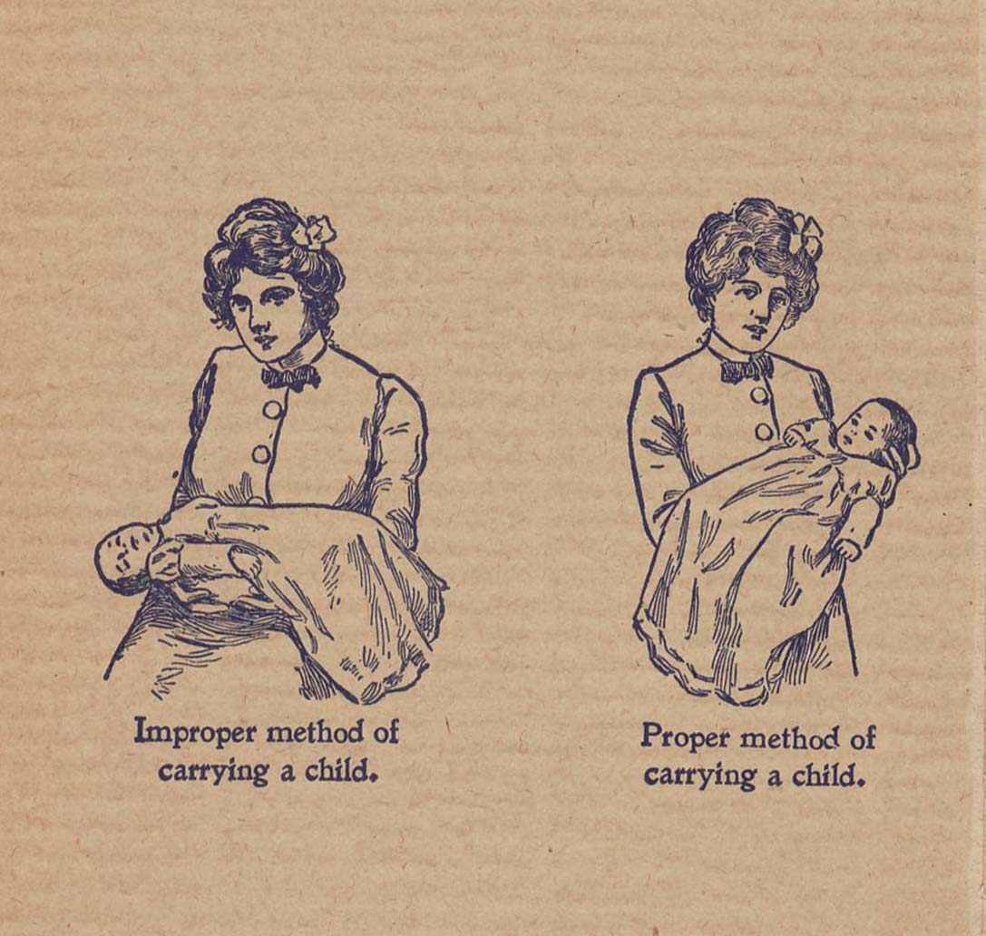 Back cover illustrations from Hygiene in Maternity