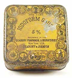 Seabury & Johnson Iodoform Gauze Tin