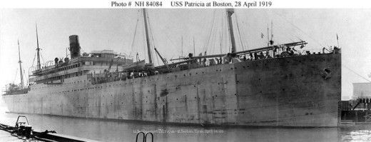 Public domain photo of the USS Patricia, Public domain photo of The Patricia, courtesy of Wikimedia Commons.