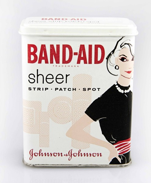 One of the most classic of our BAND-AID® Brand Adhesive Bandages tins --  from the mid-1960s.  From our archives.
