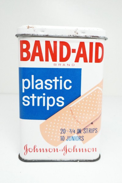 Anyone remember me from their childhoods?  A BAND-AID® Brand Plastic Strips tin from the 1970s.
