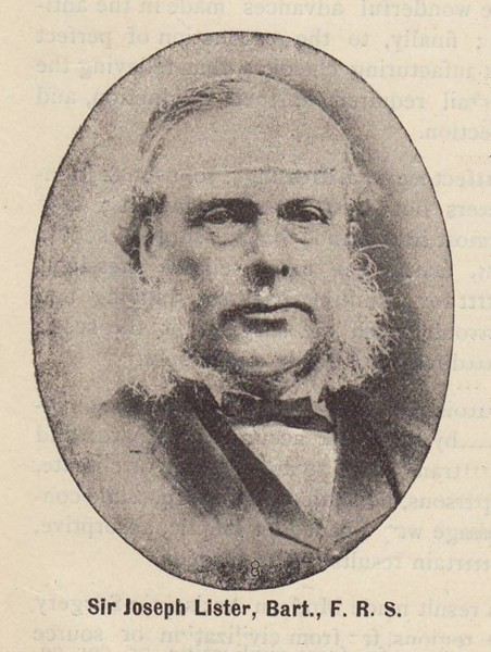 Sir Joseph Lister, from our archives