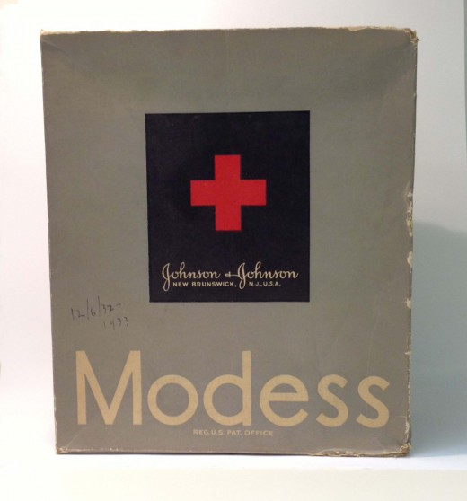 Rare MODESS® box from the early 1930s