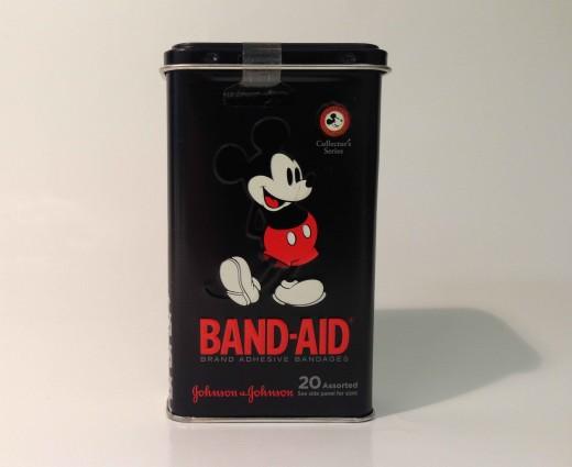 Mickey Mouse BAND-AID® Brand Adhesive Bandages Tin