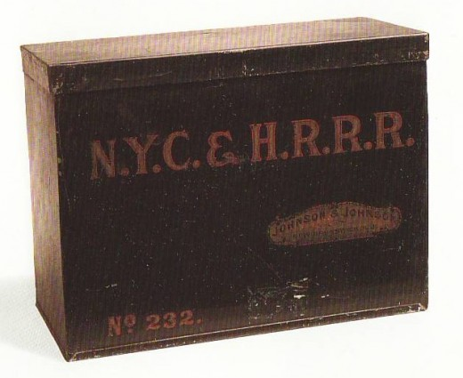 New York Central & Hudson River Railroad First Aid Kit, circa 1890, from our Museum