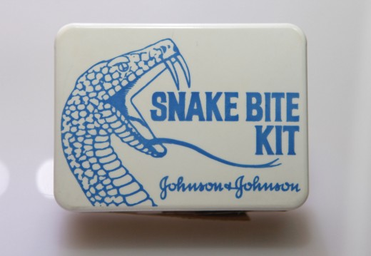 Johnson & Johnson Snake Bite Kit, 1964, from our museum.