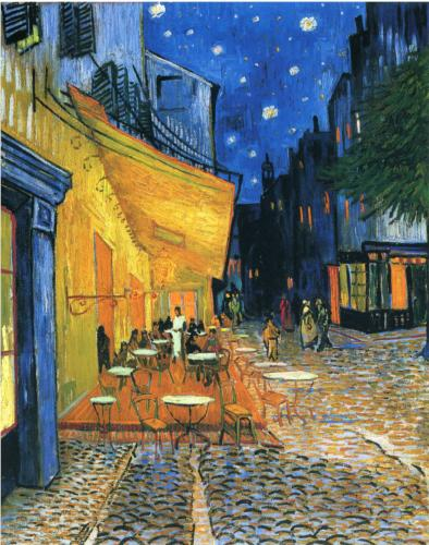 Café Terrace at Night, by Vincent Van Gogh.  Painted in 1888, the same year that Johnson & Johnson made the first commercial First Aid Kits.  Public domain image courtesy of Wikimedia Commons at this link:  http://en.wikipedia.org/wiki/File:Vincent_Willem_van_Gogh_015.jpg