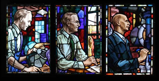 Three of the four Johnson & Johnson stained glass windows in the Wolfsonian collection.  Images courtesy of the Wolfsonian – full photo credit at the end of this post.