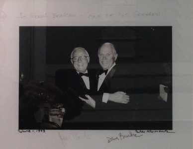 Photo of James E. Burke and his brother.
