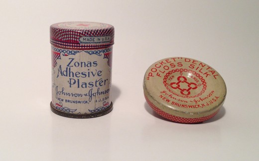 ZONAS® Adhesive Plaster and Dental Floss.  Two of the very cool products that Vince P. sent as part of our call for artifacts