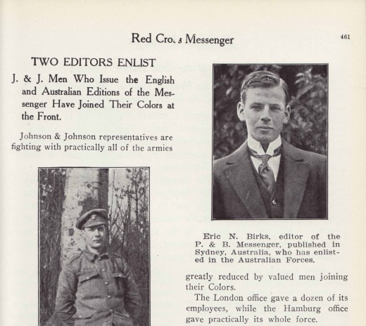 The editors of the British and Australian editions of The RED CROSS® Messenger in 1916, from our archives.