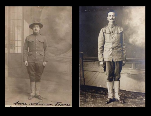 Two Johnson & Johnson employees in uniform during World War I, from our archives.