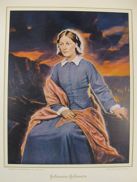 Brochure showing a painting of Florence Nightingale, commissioned by Johnson & Johnson in 1946. From our archives.