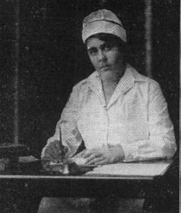Katherine Hannan, a Johnson & Johnson employee who had a distinguished career in nursing.  From our archives.