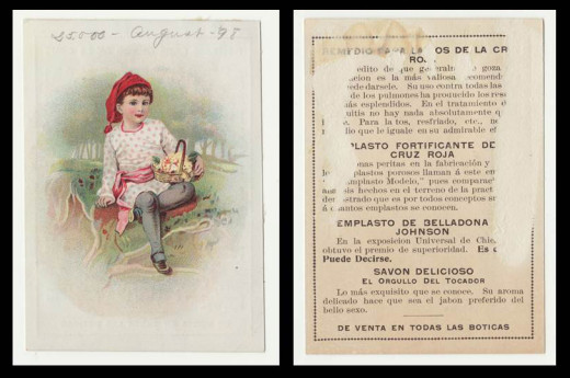 Collectable souvenir card, front and back. From our archives.