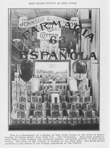 A Spanish-speaking pharmacy in New York City, early 1900s, from our archives.