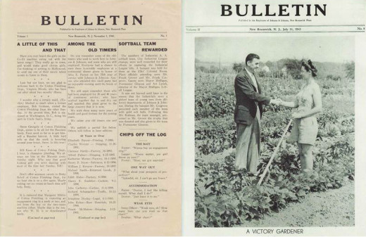 Two issues of the Johnson & Johnson Bulletin, from our archives.