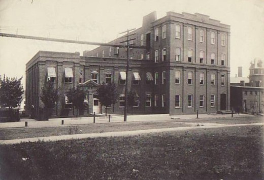 Johnson & Johnson offices, circa 1897, from our archives.  The company's first boardroom was in this building.