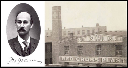 James Wood Johnson and one of the original set of Johnson & Johnson buildings, from our archives.