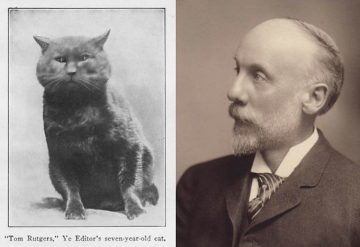 A man and his cat: Tom Rutgers, feline pioneer and Scientific Director Fred Kilmer. From our archives.
